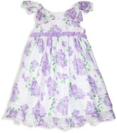 Laura Ashley Little Girl's Floral Tie-Bow Flare Dress