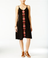American Rag Embroidered Slip Dress, Only at Macy's