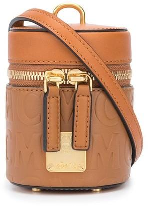 MCM Debossed Calf Leather Logo Mini Bag