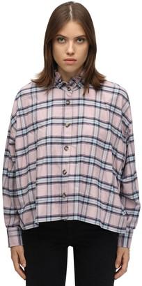 Etoile Isabel Marant Ilaria Plaid Cotton Flannel Shirt