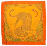 Hermes Jungle Love Dip Dye Silk Scarf