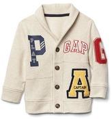 Gap Logo varsity shawl cardigan