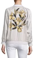 Equipment Kendrix Embroidered Silk Bomber Jacket