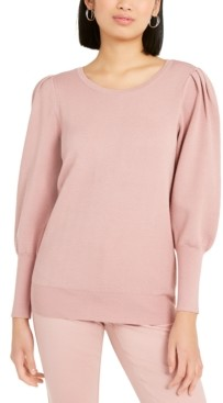 Alfani Puff-Sleeve Sweater, Created For Macy's