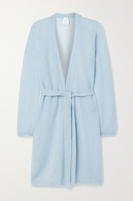 Max Mara Leisure Calante Belted Mohair-blend Cardigan - Light blue
