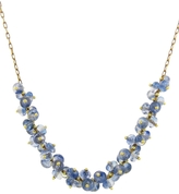 Ten Thousand Things Long Blue Sapphire Center Cluster Spiral Necklace