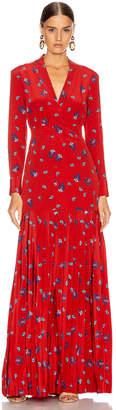 Rebecca De Ravenel Pleated Dress in Red Combo   FWRD