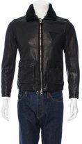 AllSaints Shearling-Trimmed Leather Jacket