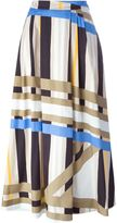 MSGM printed A-line maxi skirt