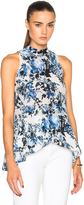 Erdem Rosa Blue Hill Garden Crepe de Chine Top