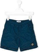 Stone Island Junior logo patch swim shorts