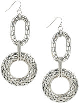 Snake Chain Circle Earrings