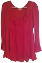 For Love & Lemons Red Silk Dress for Women