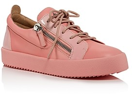 Giuseppe Zanotti Women's Double-Zipper Low-Cut Sneakers