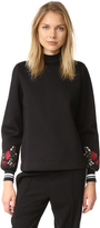Mother of Pearl Cassie Embroidered Sleeve Top