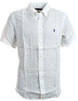 Polo Ralph Lauren Ralph Lauren Men Short Sleeve Button-Down Linen Shirt (M, )