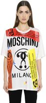 Moschino Oversized Labels Printed Jersey T-Shirt
