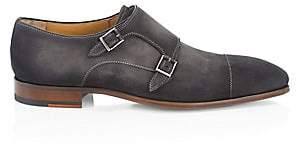 Saks Fifth Avenue BY MAGNANNI Suede Double Monk Strap Dress Shoes