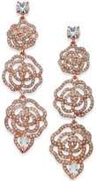 Kate Spade 14k Rose Gold-Plated Pavé Rose Triple Drop Earrings