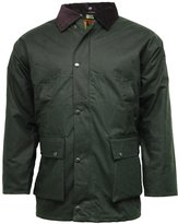 Fashion Box Mens Styish Waterproof British Quited Wax Rain Jacket