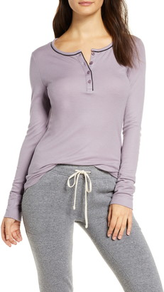 Tommy John Ribbed Long Sleeve Henley Top