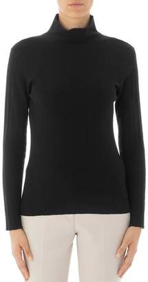 Peserico Ribbed Long-Sleeve Virgin Wool Sweater