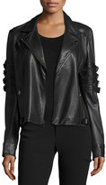 Haute Hippie With the Band Leather Jacket, Black