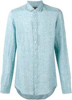 Michael Kors chambray shirt - men - Linen/Flax - M