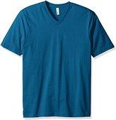 American Apparel Men's Organic Fine Jersey Short Sleeve Classic V-Neck T-Shirt