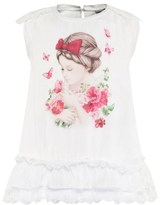 Mayoral Cream Girl and Butterfly Print Top