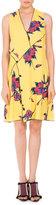 Proenza Schouler Floral Sleeveless V-Neck Dress, Multi