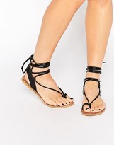 Asos FOXY Leather Tie Leg Sandals