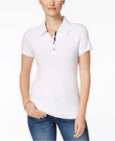 Charter Club Short-Sleeve Polo Top, Only at Macy's