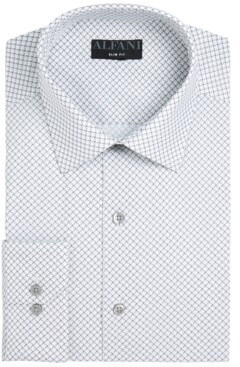 Alfani AlfaTech by Men's Slim-Fit Performance Stretch Easy-Care Dress Shirts, Created for Macy's