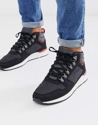 Brave Soul hiking style trainers in black