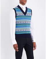 Burberry Fair Isle wool-blend vest