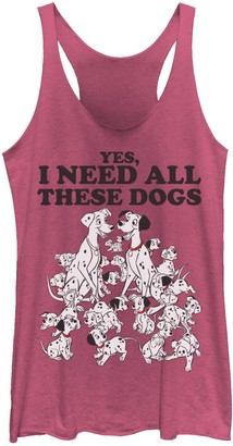 Disney Juniors' 101 Dalmatians Yes I Need All These Dogs Graphic Tank