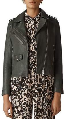 Whistles Agnes Leather Biker Jacket