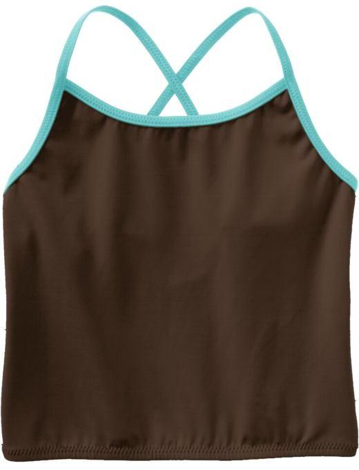 Old Navy Girls Mix & Match Tankini Swim Tops - Multi Stripe