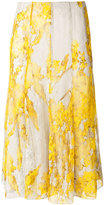Blumarine floral embroidered skirt