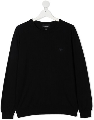 Emporio Armani Kids Embroidered Logo Jumper
