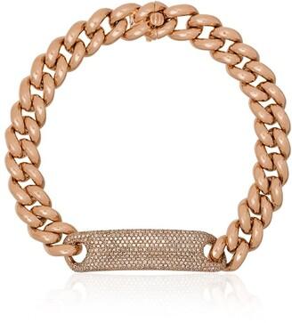 Shay 18K rose gold pave diamond bracelet