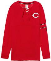 PINK Cincinnati Reds Bling Lace-up Varsity Crew