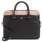 Kate Spade 13-Inch Colorblock Leather Laptop Case - Black