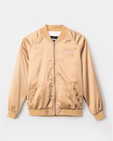 Stussy Women's California Satin Jacket (Gold)