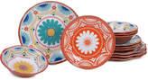 Certified International Vera Cruz 12-Pc. Melamine Dinnerware Set
