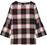 Hatch Madeline Plaid Cotton-fleece Top