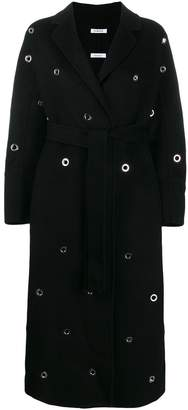 P.A.R.O.S.H. eyelet embellished robe coat