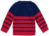 Jo-Jo JoJo Maman Bebe Raglan Jumper (Toddler/Kid) - Navy/Red Stripe-3-4 Years