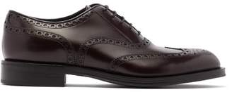 Prada Leather Oxford Brogues - Mens - Burgundy